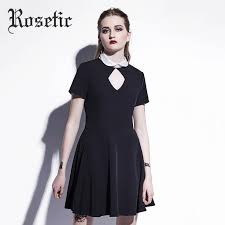 <b>Rosetic</b> Gothic Dress <b>Hollow Out</b> Pentagram Summer Black Women ...