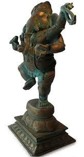 India Dancing <b>Ganesh</b> Lost wax Chola <b>Bronze</b> Statue | Eastern ...
