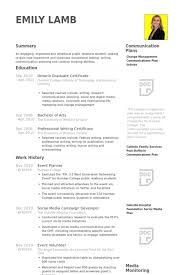 event planner resume samples event coordinator resume sample