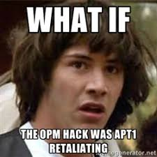 what if the opm hack was apt1 retaliating - what if meme | Meme ... via Relatably.com