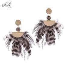 <b>Badu</b> Women <b>Vintage</b> Feather <b>Earrings for</b> Women Gold Alloy ...
