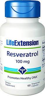 Life Extension <b>Resveratrol</b> Promotes Longer Life <b>100 mg</b>, <b>60</b> ...