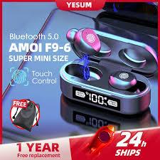 Original AMOI TWS Wireless Earbuds <b>Bluetooth</b> Earphones F9 <b>V8</b> ...