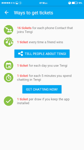 tengi chat win money every week highest paying reward app how to earn tickets to win money in tengi