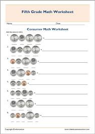 Free Printable Worksheets Consumer Math - Worksheets for Kids ...5th Grade Consumer Math Test Worksheet Free Printable