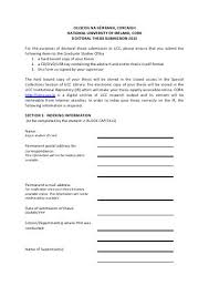 EdD Submission of Thesis for Examination Form   Faculty of Education