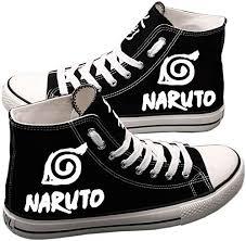 E-LOV <b>Naruto</b> Anime Sharingan Logo Hand-Painted <b>Canvas Shoes</b>