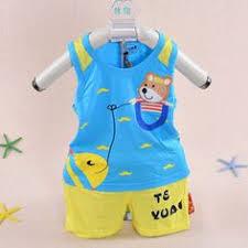 2017 New <b>summer baby</b> clothing <b>set cotton</b> Cute pattern Vest ...