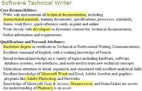 software technical writer job post highlight Squawkfox