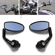 motorcycle bar end mirror for both 1 7 8 inch handle universal mirrors honda suzuki kawasaki yamaha harle