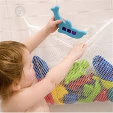 <b>1Pcs Kids Baby</b> Bath Net Bag <b>Toys</b> Storage Suction Bag Folding ...