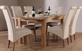 oak chunky table chairs