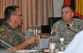 "Richard Rossmanith, and the stand-up team for future Land Command-Izmir, Maj. Gen. Frederick B. ""Ben"" Hodges, discuss plans for the future land command at ... - MG%2520Rossmanith%2520and%2520MG%2520Hodges%2520(DSC_6661)"