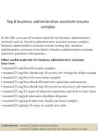 topbusinessadministrativeassistantresumesamples lva app thumbnail jpg cb