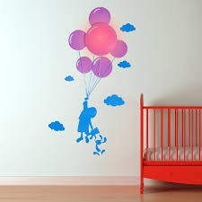 Small Picture Child and Balloon Wall Light Sticker designer night light wall