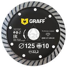 Круг алмазный <b>Graff</b> (<b>GDD 17</b> 125.10) Ф125х22мм по бетону ...