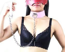 Cute Color Metal <b>Collar</b> Slave <b>Collars with</b> Steel Chain Leash <b>Sex</b> ...