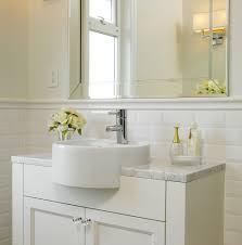 bathroom white tiles:  appealing bathroom traditional design ideas for beveled subway