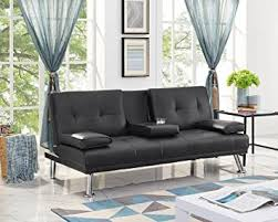 Naomi Home Futon Sofa with Armrest and ... - Amazon.com