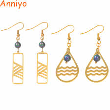 <b>Anniyo</b> Marshall Pearl <b>Earrings</b> for Women Gold Color Trendy ...