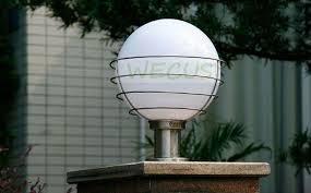 2019 <b>Outdoor Lighting Ball Column</b> Light Outdoor Pillar in light bulb ...
