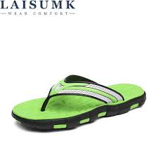 <b>LAISUMK 2020</b> Summer Men Slippers Classic Breathable Casual ...