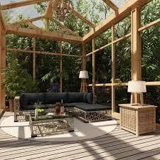 Festnight <b>5 Piece Garden Lounge</b> Set with- Buy Online in Suriname ...