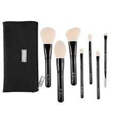 New <b>Makeup Brushes 7Pcs</b>/<b>Set</b> with Pouch <b>Professional</b> Wood ...