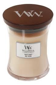 <b>Ароматическая свеча</b> White Honey Miel Blanc WoodWick купить ...