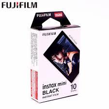 <b>Original Fujifilm 10 sheets</b> Instax Mini Black Frame Instant Film ...