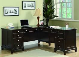 awesome home office furniture office l desks transitional cappuccino l shaped home design inspiration ideas awesome images home office
