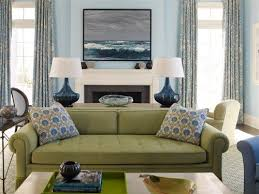 space living room olive: great combination of olive and navy in this living room