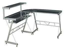 l shaped glass desk black ikea glass top desk