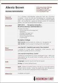 business administration resume examples •business administration resume example