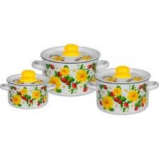 Купить <b>Набор эмалированной посуды 3</b> предмета СтальЭмаль ...
