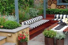 patio ideas plants patio with striped cushions gardens x patio with striped cushions