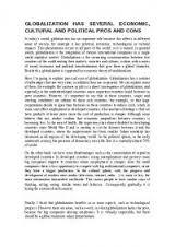 essay globalization inglese livello b bicocca essay globalization inglese livello b bicocca exercises for  universit di milano bicocca