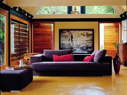 awesome home living room decorating ideas interiors design with dark purple fabric sofa and red cushion appealing home interiro modern living room