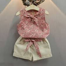 <b>HE Hello Enjoy Toddler</b> Clothes Sleeveless Lace Bow Tops+Shorts ...