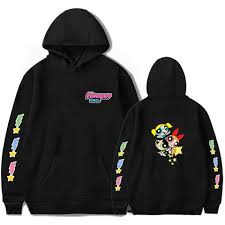 <b>New Fashion Harajuku Kawaii</b> Powerpuff Cute Girls Hoodie ...