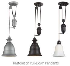 restoration pull down adjustable pendant light high quality silver grey black white options hanging interior design adjustable pendant lighting