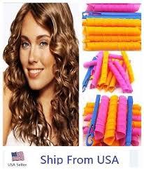 <b>40PCS</b> 50cm <b>Magic</b> Hair Style Curlers Formers Spiral Ringlets ...