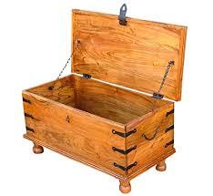 Nikunj <b>Solid</b> Wood <b>Trunk Box Storage Chest</b> for Home (Sheesham ...