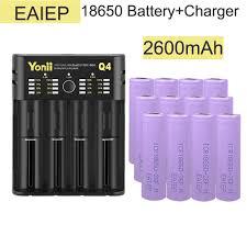 <b>EAIEP</b> 12pcs 18650 recharegeable <b>battery</b> 3.7v 2600mah <b>battery</b> for ...