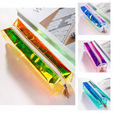 Fashion Bentoy Laser <b>Pencil Case</b> Transparent Pen Bags School ...