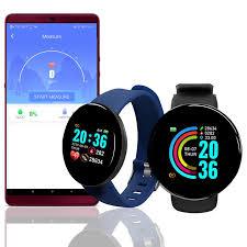 <b>D18</b> Smart Watch Men Heart Rate/Blood Pressure/Blood Oxyge ...