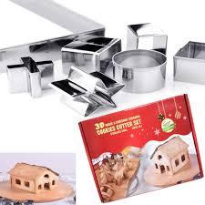QISF <b>18PCS Christmas</b> Cookie Cutter <b>3D</b> Stainless Steel Scenario ...