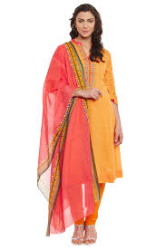 new arrivals salwar suits ethnic wear kurta kurti dresses for orange cotton kalidar suit set