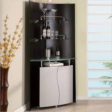 global furniture usa corner home bar unit in black and silver at home bar furniture