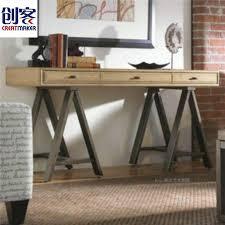 anhui american country vintage wrought iron wood modern minimalist desk computer desk drawer american country wrought iron vintage desk